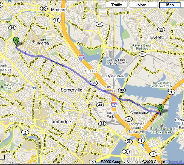 Teele Square to Charlestown Navy Yard